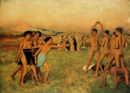 Edgar (Hilaire Germain) Degas (de Gas) - Spartanerinnen fordern Knaben zum Wettkampf