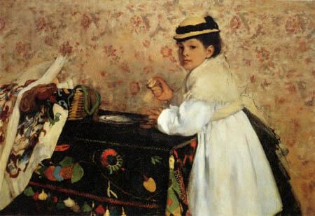 Edgar (Hilaire Germain) Degas (de Gas) - Bildnis Hortense Valpincon