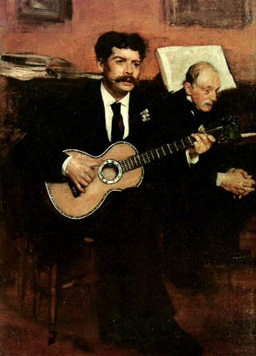 Edgar (Hilaire Germain) Degas (de Gas) - Lorenzo Pagans und Auguste Degas