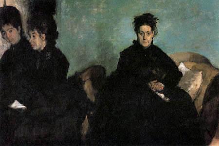 Edgar (Hilaire Germain) Degas (de Gas) - Duchessa di Montejasi mit Töchtern