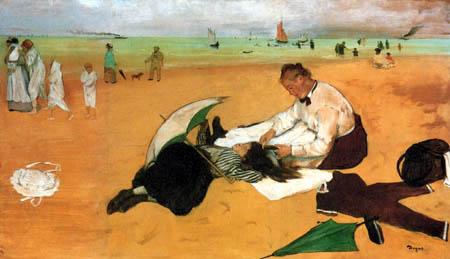 Edgar (Hilaire Germain) Degas (de Gas) - Der Strand