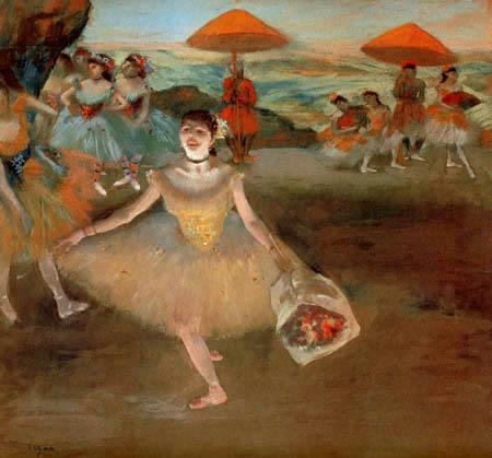 Edgar (Hilaire Germain) Degas (de Gas) - Tänzerin mit Blumenstrauß