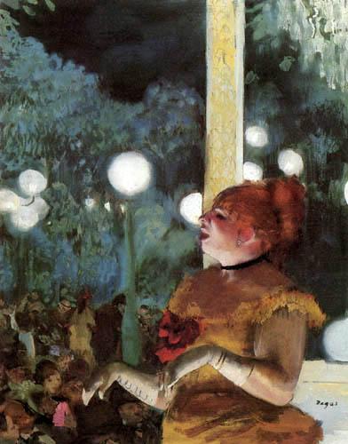 Edgar (Hilaire Germain) Degas (de Gas) - Cafe Concert- Das Lied des Hundes