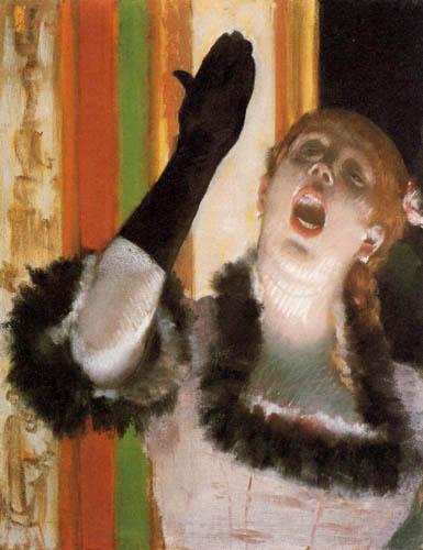 Edgar (Hilaire Germain) Degas (de Gas) - Sängerin im Cafe-Konzert