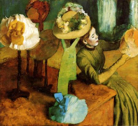 Edgar (Hilaire Germain) Degas (de Gas) - Bei der Modistin