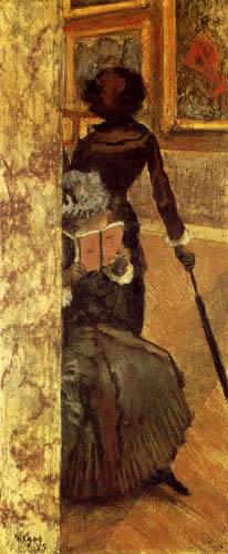 Edgar (Hilaire Germain) Degas (de Gas) - Mary Cassatt im Louvre