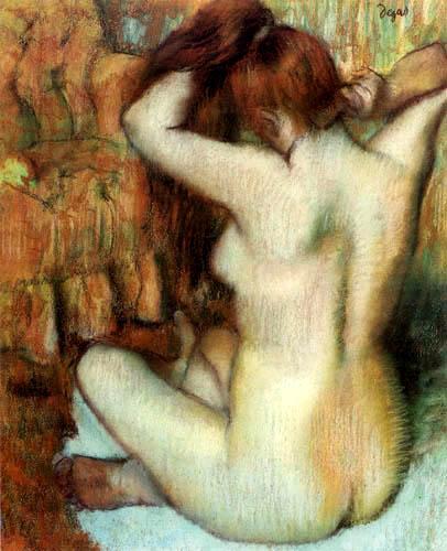 Edgar (Hilaire Germain) Degas (de Gas) - Nackte Frau, Rückenakt