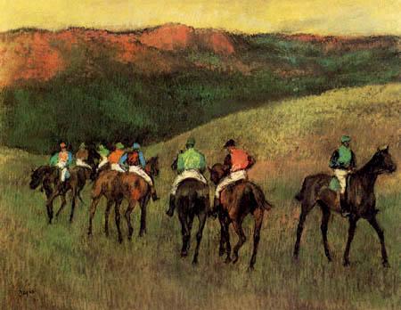 Edgar (Hilaire Germain) Degas (de Gas) - Rennpferde