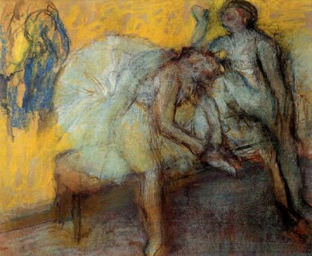 Edgar (Hilaire Germain) Degas (de Gas) - Zwei Tänzerinnen auf der Bank