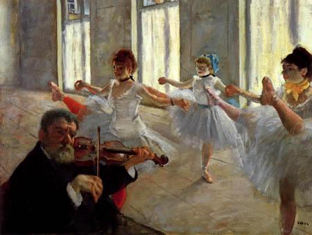 Edgar (Hilaire Germain) Degas (de Gas) - Ballet instruction
