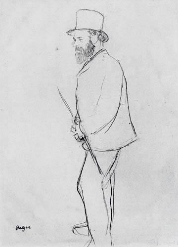 Edgar (Hilaire Germain) Degas (de Gas) - Manet beim Pferderennen