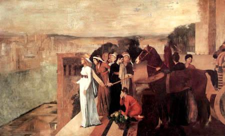 Edgar (Hilaire Germain) Degas (de Gas) - Semiramis erbaut Babylon