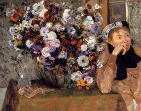 Edgar (Hilaire Germain) Degas (de Gas) - Frau mit einer Blumenvase