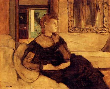 Edgar (Hilaire Germain) Degas (de Gas) - Porträt Madame Theodore Gobillard