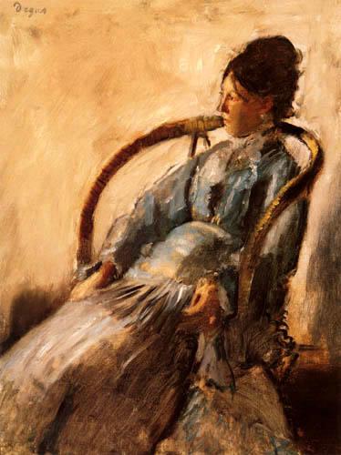 Edgar (Hilaire Germain) Degas (de Gas) - Porträt Madame de Nittis