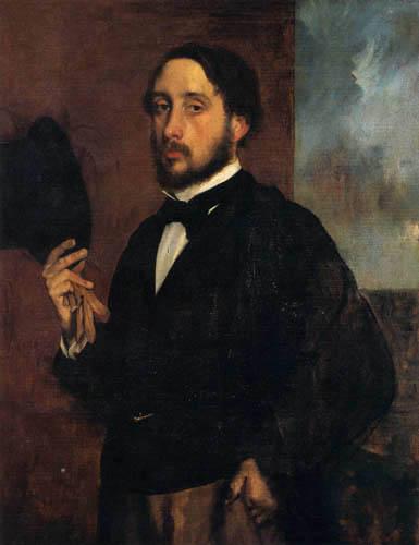 Edgar (Hilaire Germain) Degas (de Gas) - Selbstporträt