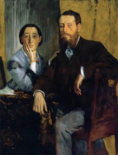 Edgar (Hilaire Germain) Degas (de Gas) - Mons. und Mad. Edmondo Morbilli