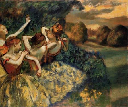 Edgar (Hilaire Germain) Degas (de Gas) - Vier Tänzerinnen