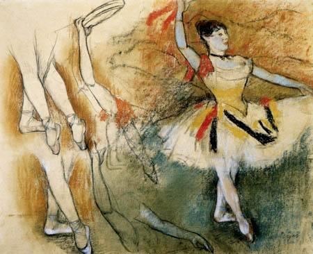 Edgar (Hilaire Germain) Degas (de Gas) - Studie über Arme, Beine, Tänzerin