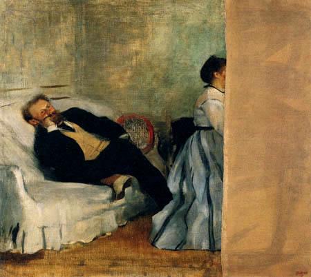 Edgar (Hilaire Germain) Degas (de Gas) - Mons. und Mad. Eduard Manet