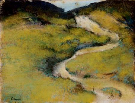 Edgar (Hilaire Germain) Degas (de Gas) - Weg in einer Dünenlandschaft