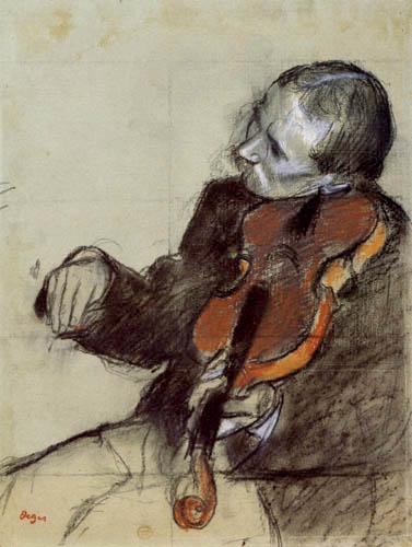 Edgar (Hilaire Germain) Degas (de Gas) - Studie, Der Geiger