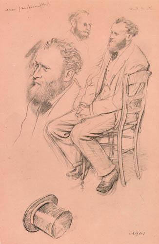 Edgar (Hilaire Germain) Degas (de Gas) - Studie zum Porträt Eduard Manet