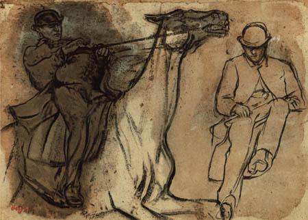 Edgar (Hilaire Germain) Degas (de Gas) - Reiter zu Pferd, Studie