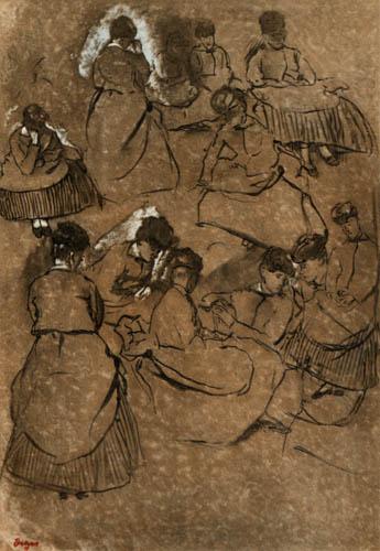 Edgar (Hilaire Germain) Degas (de Gas) - Pause auf dem Rennplatz