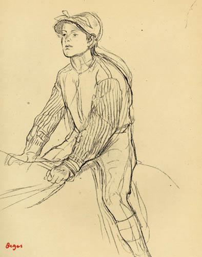 Edgar (Hilaire Germain) Degas (de Gas) - Junger Jockey