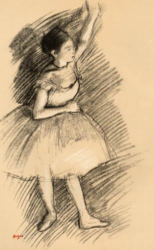 Edgar (Hilaire Germain) Degas (de Gas) - Tänzerin mit erhobenem Arm