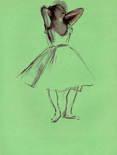 Edgar (Hilaire Germain) Degas (de Gas) - Tänzerin, Arme hinter dem Kopf