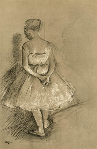 Edgar (Hilaire Germain) Degas (de Gas) - Tänzerin von hinten