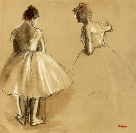 Edgar (Hilaire Germain) Degas (de Gas) - Zwei stehende Tänzerinnen