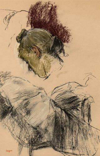 Edgar (Hilaire Germain) Degas (de Gas) - Sich verneigende Tänzerin