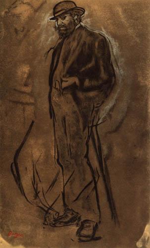 Edgar (Hilaire Germain) Degas (de Gas) - Herr mit steifem Hut