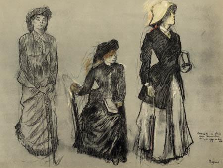 Edgar (Hilaire Germain) Degas (de Gas) - Drei städtisch gekleidete Damen