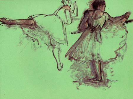 Edgar (Hilaire Germain) Degas (de Gas) - Tänzerinnen an der Barre