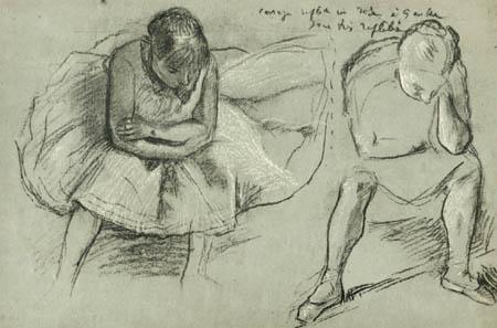 Edgar (Hilaire Germain) Degas (de Gas) - Ausruhende Tänzerinnen