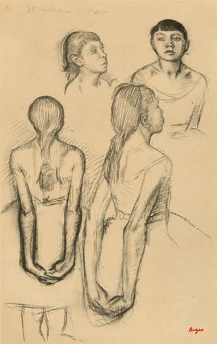 Edgar (Hilaire Germain) Degas (de Gas) - Skizzen einer kleinen Tänzerin