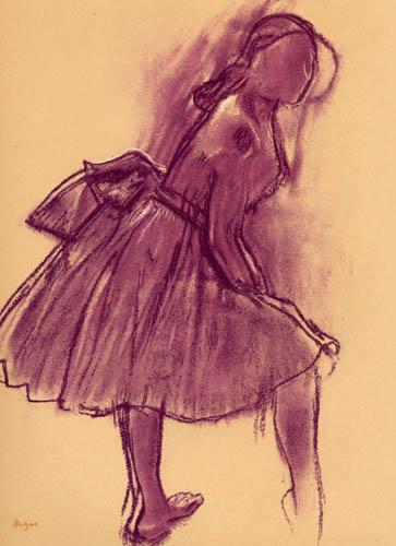 Edgar (Hilaire Germain) Degas (de Gas) - Stehende Tänzerin im Profil