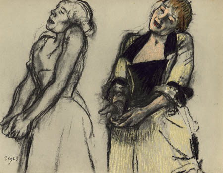 Edgar (Hilaire Germain) Degas (de Gas) - Studien zur Sängerin im Cafe-Concert