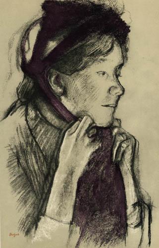 Edgar (Hilaire Germain) Degas (de Gas) - Femme avec le chapeau