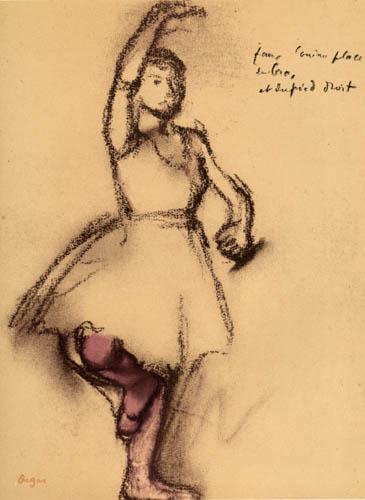 Edgar (Hilaire Germain) Degas (de Gas) - Tänzerin in Pose