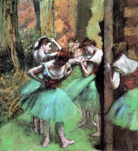 Edgar (Hilaire Germain) Degas (de Gas) - Tänzerinnen, rosa und grün