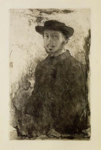 Edgar (Hilaire Germain) Degas (de Gas) - Selbstbildnis