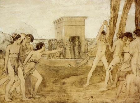 Edgar (Hilaire Germain) Degas (de Gas) - Junge Spartanerinnen