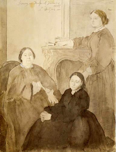 Edgar (Hilaire Germain) Degas (de Gas) - Madame Michel Musson mit Töchtern