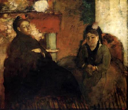 Edgar (Hilaire Germain) Degas (de Gas) - Madame Lisle und Madame Loubens