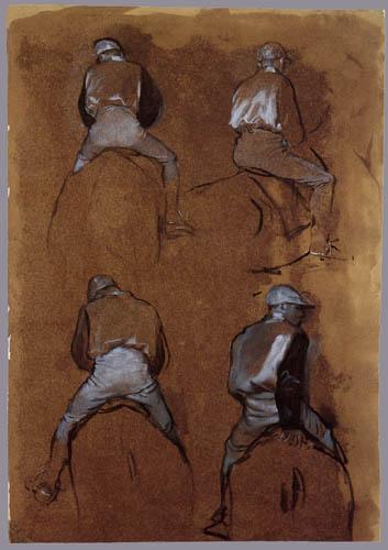 Edgar (Hilaire Germain) Degas (de Gas) - Studie von Jockeys